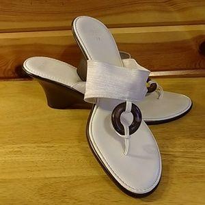 Italian Shoe Makers White Sandals